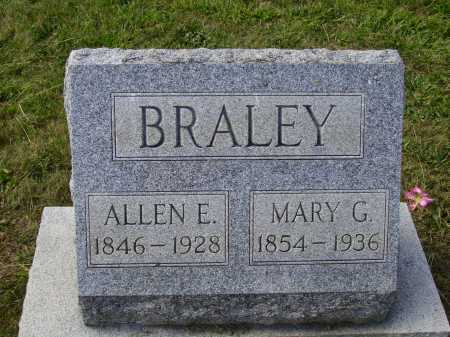 BRALEY, MARY G. - Meigs County, Ohio | MARY G. BRALEY - Ohio Gravestone Photos