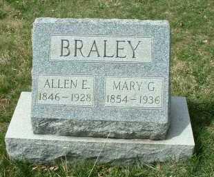 BRALEY, MARY G. - Meigs County, Ohio | MARY G. BRALEY - Ohio Gravestone Photos