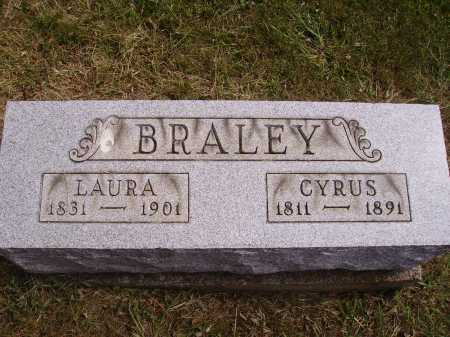 BRALEY, CYRUS - Meigs County, Ohio | CYRUS BRALEY - Ohio Gravestone Photos