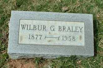 BRALEY, WILBUR G. - Meigs County, Ohio | WILBUR G. BRALEY - Ohio Gravestone Photos