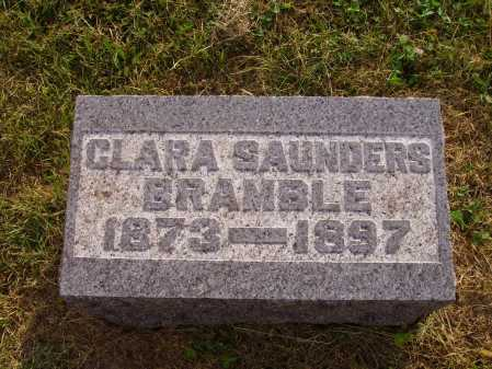 SAUNDERS BRAMBLE, CLARA - Meigs County, Ohio | CLARA SAUNDERS BRAMBLE - Ohio Gravestone Photos
