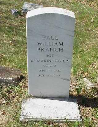 BRANCH, PAUL WILLIAM - Meigs County, Ohio   PAUL WILLIAM BRANCH - Ohio Gravestone Photos