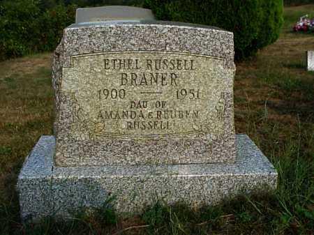 BRANER, ETHEL - Meigs County, Ohio | ETHEL BRANER - Ohio Gravestone Photos