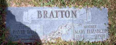 BRATTON, DAVID DAVE - Meigs County, Ohio   DAVID DAVE BRATTON - Ohio Gravestone Photos