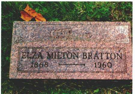 BRATTON, ELZA MILTON - Meigs County, Ohio | ELZA MILTON BRATTON - Ohio Gravestone Photos
