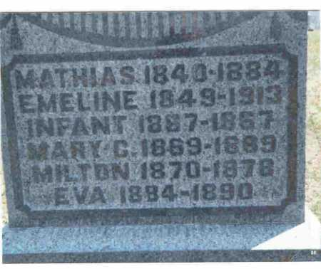 BRATTON, EMELINE - Meigs County, Ohio | EMELINE BRATTON - Ohio Gravestone Photos