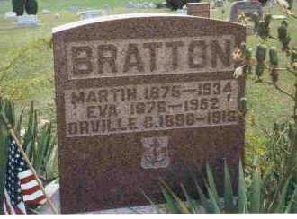 BRATTON, EVA - Meigs County, Ohio | EVA BRATTON - Ohio Gravestone Photos