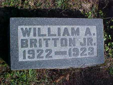 BRITTON, WILLIAM A., JR. - Meigs County, Ohio | WILLIAM A., JR. BRITTON - Ohio Gravestone Photos
