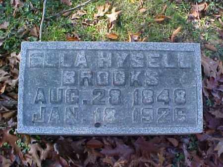 HYSELL BROOKS, ELLA - Meigs County, Ohio | ELLA HYSELL BROOKS - Ohio Gravestone Photos