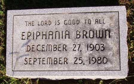 BROWN, EPIPHANIA - Meigs County, Ohio | EPIPHANIA BROWN - Ohio Gravestone Photos