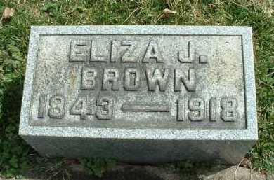 BROWN, ELIZA J. - Meigs County, Ohio   ELIZA J. BROWN - Ohio Gravestone Photos