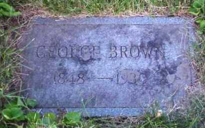 BROWN, GEORGE - Meigs County, Ohio | GEORGE BROWN - Ohio Gravestone Photos