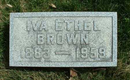 BROWN, IVA ETHEL - Meigs County, Ohio | IVA ETHEL BROWN - Ohio Gravestone Photos