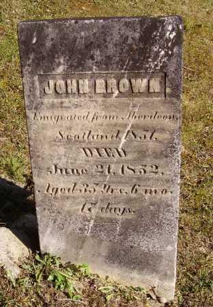 BROWN, JOHN - Meigs County, Ohio   JOHN BROWN - Ohio Gravestone Photos