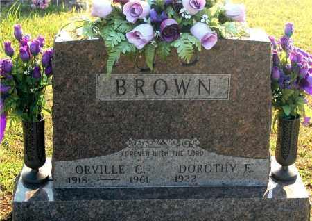 BROWN, ORVILLE C - Meigs County, Ohio   ORVILLE C BROWN - Ohio Gravestone Photos