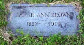BROWN, SARAH ANN - Meigs County, Ohio | SARAH ANN BROWN - Ohio Gravestone Photos