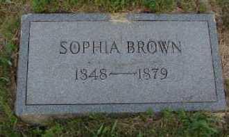 BROWN, SOPHIA - Meigs County, Ohio | SOPHIA BROWN - Ohio Gravestone Photos
