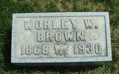 BROWN, WORLEY W. - Meigs County, Ohio | WORLEY W. BROWN - Ohio Gravestone Photos
