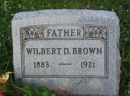 BROWN, WILBERT D. - Meigs County, Ohio   WILBERT D. BROWN - Ohio Gravestone Photos