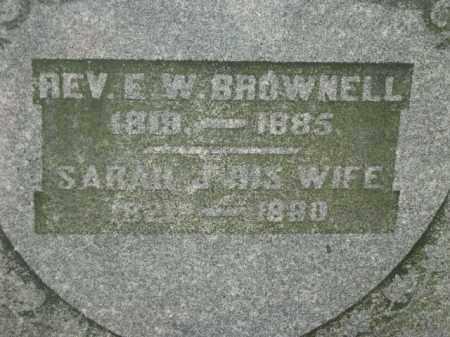 BROWNELL, REV. E W - Meigs County, Ohio | REV. E W BROWNELL - Ohio Gravestone Photos