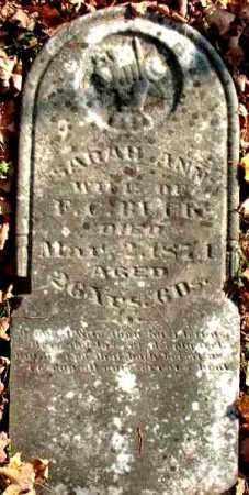 BUCK, SARAH ANN - Meigs County, Ohio | SARAH ANN BUCK - Ohio Gravestone Photos