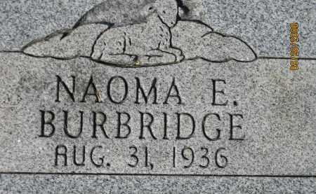 BURBRIDGE, NAOMA E. - Meigs County, Ohio | NAOMA E. BURBRIDGE - Ohio Gravestone Photos