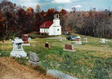 BURLINGHAM, CHURCH & CEMETERY - Meigs County, Ohio | CHURCH & CEMETERY BURLINGHAM - Ohio Gravestone Photos