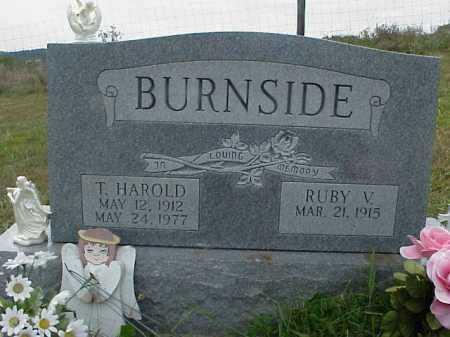 BURNSIDE, THOMAS HAROLD - Meigs County, Ohio   THOMAS HAROLD BURNSIDE - Ohio Gravestone Photos