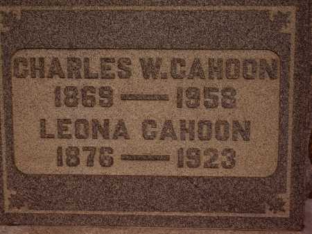 CAHOON, CHARLES W. - CLOSEVIEW - Meigs County, Ohio | CHARLES W. - CLOSEVIEW CAHOON - Ohio Gravestone Photos