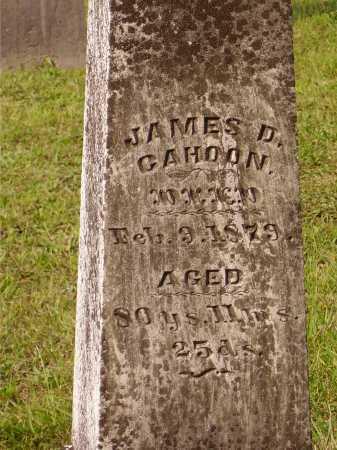 CAHOON, JAMES D. - Meigs County, Ohio | JAMES D. CAHOON - Ohio Gravestone Photos