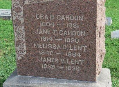 CAHOON, JANE T. - Meigs County, Ohio | JANE T. CAHOON - Ohio Gravestone Photos