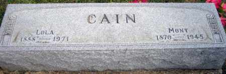 CAIN, LOLA - Meigs County, Ohio | LOLA CAIN - Ohio Gravestone Photos