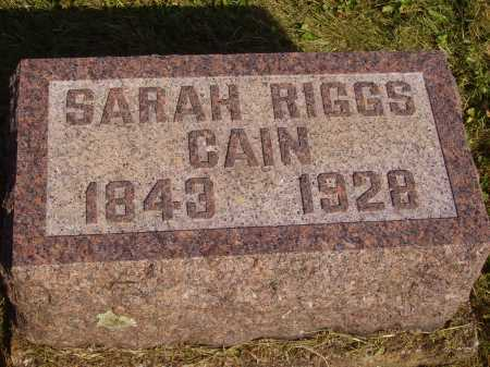 RIGGS CAIN, SARAH - Meigs County, Ohio   SARAH RIGGS CAIN - Ohio Gravestone Photos