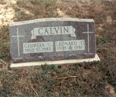 CALVIN, LEONARD C. - Meigs County, Ohio   LEONARD C. CALVIN - Ohio Gravestone Photos