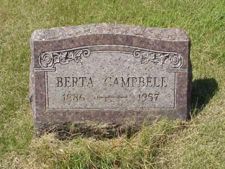 CAMPBELL, BERTA - Meigs County, Ohio | BERTA CAMPBELL - Ohio Gravestone Photos