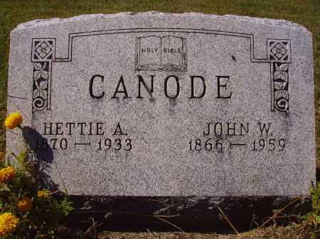 CANODE, HETTIE A. - Meigs County, Ohio | HETTIE A. CANODE - Ohio Gravestone Photos