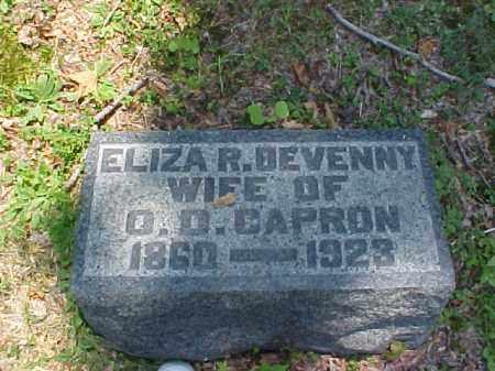 DEVENNY CAPRON, ELIZA R. - Meigs County, Ohio | ELIZA R. DEVENNY CAPRON - Ohio Gravestone Photos
