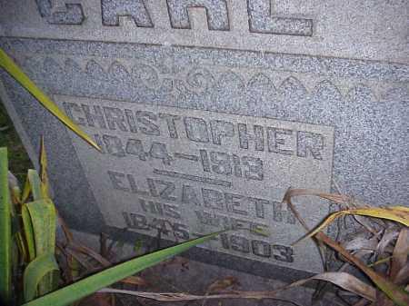 CARL, ELIZABETH - Meigs County, Ohio | ELIZABETH CARL - Ohio Gravestone Photos