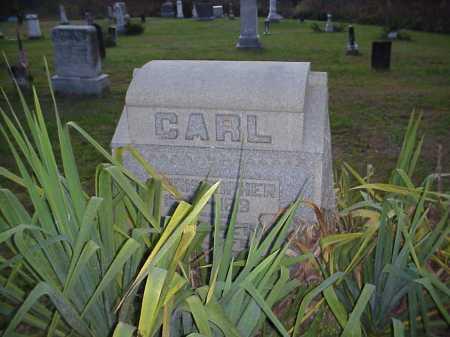 CARL MONUMENT, CHRISTOPHER & ELIZABETH - Meigs County, Ohio   CHRISTOPHER & ELIZABETH CARL MONUMENT - Ohio Gravestone Photos