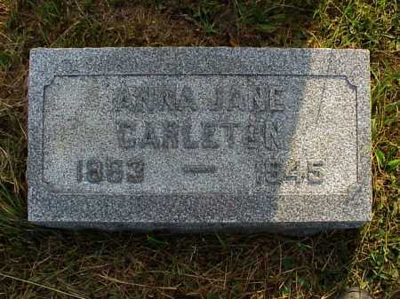 CARLETON, ANNA JANE - Meigs County, Ohio | ANNA JANE CARLETON - Ohio Gravestone Photos