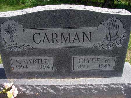 CARMAN, E MYRTLE - Meigs County, Ohio | E MYRTLE CARMAN - Ohio Gravestone Photos