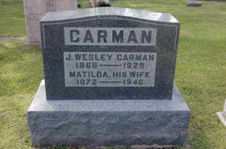 CARMAN, MATILDA - Meigs County, Ohio | MATILDA CARMAN - Ohio Gravestone Photos