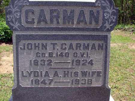 CARMAN, JOHN T - Meigs County, Ohio | JOHN T CARMAN - Ohio Gravestone Photos