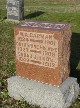 CARMAN, CATHARINE - Meigs County, Ohio | CATHARINE CARMAN - Ohio Gravestone Photos