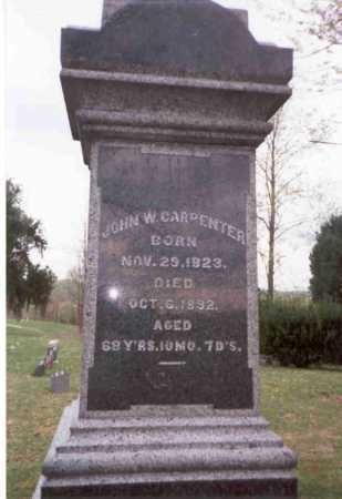CARPENTER, JOHN W. - Meigs County, Ohio | JOHN W. CARPENTER - Ohio Gravestone Photos