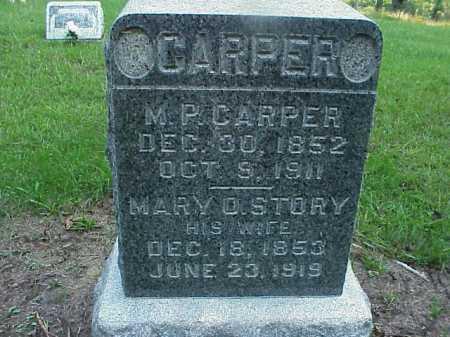 STORY CARPER, MARY OLIVE - Meigs County, Ohio | MARY OLIVE STORY CARPER - Ohio Gravestone Photos