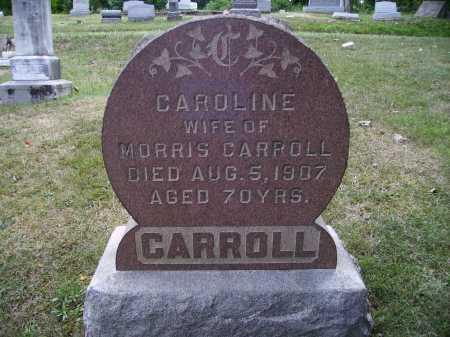 CARROLL, CAROLINE - FRONT VIEW - Meigs County, Ohio   CAROLINE - FRONT VIEW CARROLL - Ohio Gravestone Photos