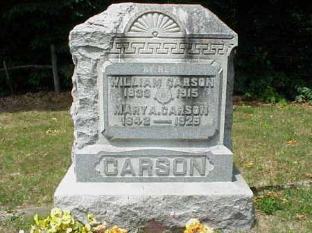 CARSON, MARY A. - Meigs County, Ohio   MARY A. CARSON - Ohio Gravestone Photos