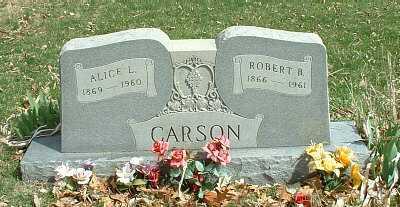 CARSON, ALICE L. - Meigs County, Ohio | ALICE L. CARSON - Ohio Gravestone Photos