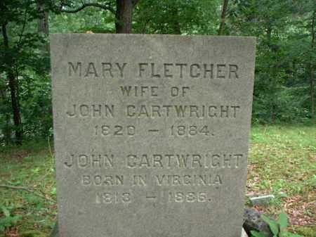 FLETCHER CARTWRIGHT, MARY - Meigs County, Ohio   MARY FLETCHER CARTWRIGHT - Ohio Gravestone Photos